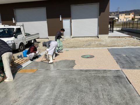【和歌山】某公園の歩道の一区画を施工しました!