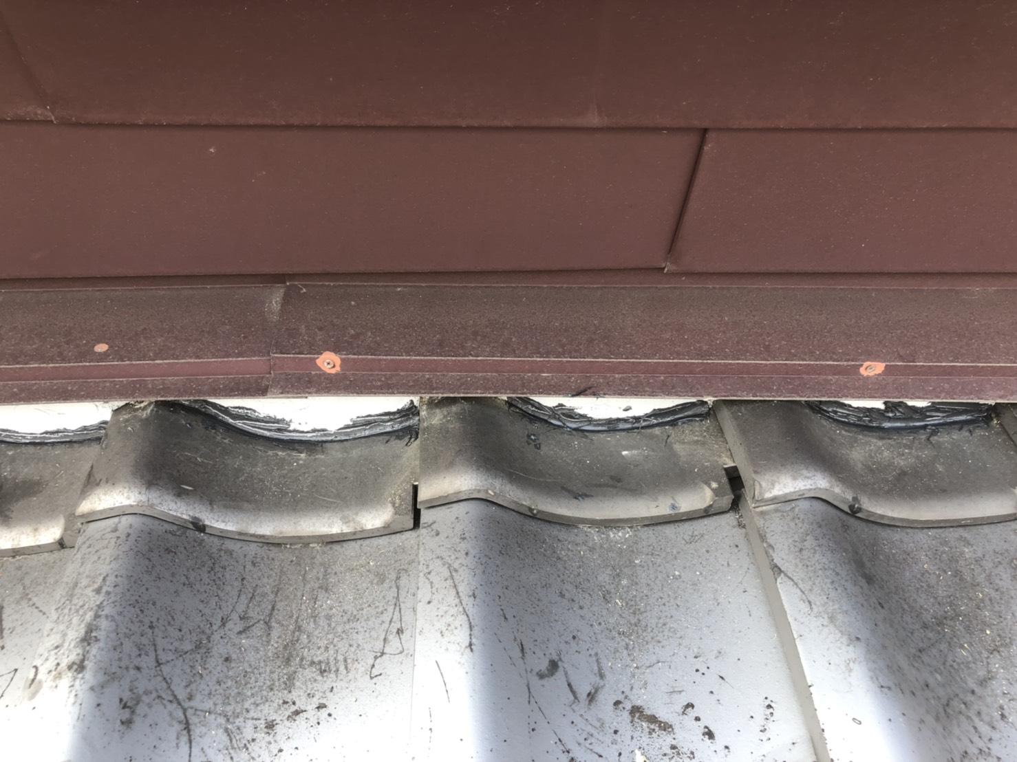 屋根面土塗り替え修繕